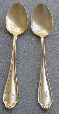 TWO Gorham Whiting Sterling Silver Stratford Teaspoons