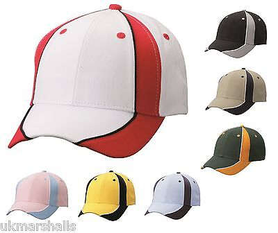 MB Club Cap Teamwear Stitched Baseball Cap in 10 Colours Sporty Hat (MB135)