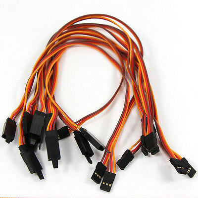 CHJX21 10pcs Servo Extension Lead Wire Cable For JR RC Car Plane 30cm NEW