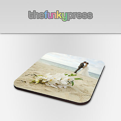 Printed Personalised Photo Coaster, Printed with your Picture Add Text For Free