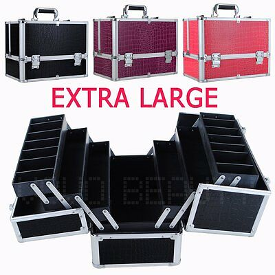 Extra Large Space Beauty Box Storage Make up Nail Jewelry Cosmetic Vanity Case