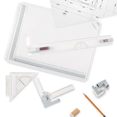 A3: Rapid Drawing Boards Plastic College School Parallel Motion Set Square
