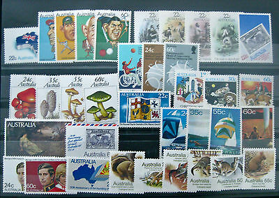 Full Year Collection of 1981 Australian Stamps