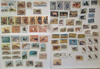 All The World Wwf Animals Lot Of 100 Stamps Unused Never Hinged Mnh**