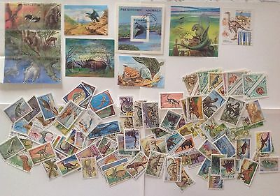 All The World Animals , Prehistoric Animals Lot Of 166 Stamps Mnh** Never Hinged