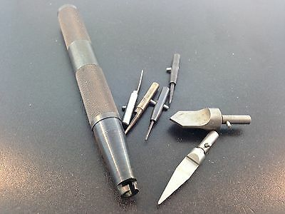 Clock Repair Hand Reamer Set used with the KWM Bushing System