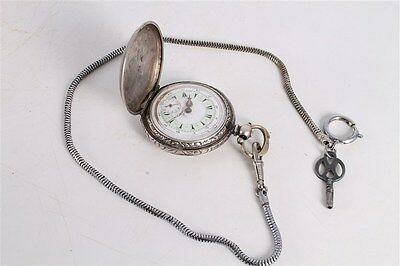 Rare Antique Vintage Old Ottoman Turkish Silver Mens Full Hunter Pocket Watch.