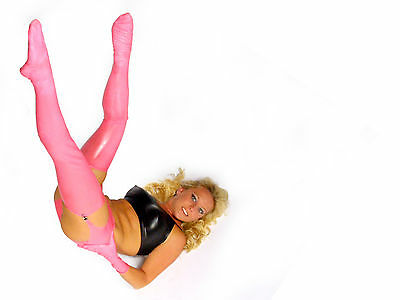 NEW Pink Latex Rubber Unisex Stockings (ENGLISH) S M L XL