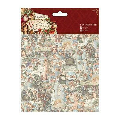 """6""""x6"""" VELLUM PACK - VICTORIAN CHRISTMAS - DOCRAFTS - RRP £5.00"""