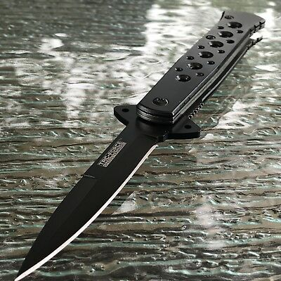 "7"" TAC FORCE Black Spectrum STILETTO Spring Assisted Open Folding Pocket Knife"