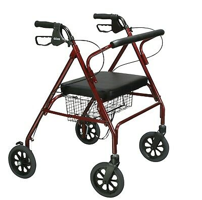 Big And Tall Heavy Duty Rolling Walker Aluminum Wide Bariatric Rollator