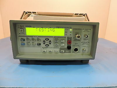 Agilent 53147A Microwave Counter / Power Meter / DVM, 20GHz, - 90 Day Warranty
