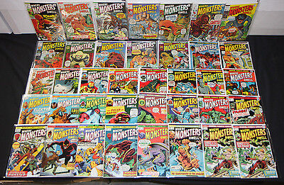 VINTAGE MARVEL HORROR SILVER BRONZE WHERE MONSTERS DWELL COMIC LOT 38pc 5.0-9.0