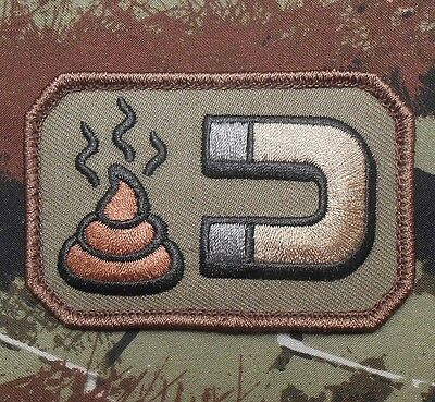Sh*t Magnet Army Usa Combat Morale Badge Forest Velcro® Brand Fastener Patch