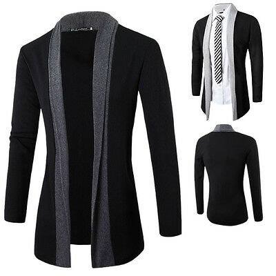 Men's Knitted Cardigan Jacket Slim Casual Sweater Coat Warm Outwear Outcoat New