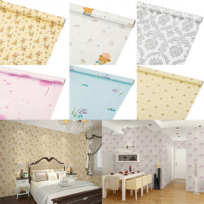 45cm Width Self-adhesive Damask Wall Stickers Multi-style Bedroom Background