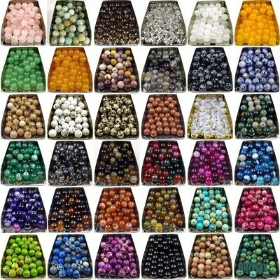 wholesale assorted gemstone loose beads 4mm 6mm 8mm 10mm round stone jewelry DIY