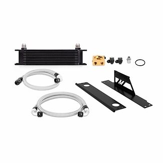 Mishimoto Thermostatic Oil Cooler Kit - Black - fits Impreza WRX & STi - 01-05