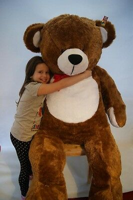 180 cm ! GIANT LARGE BIG HUGE BROWN TEDDY BEAR  EXPRESS DELIVERY+HEART CUSHION