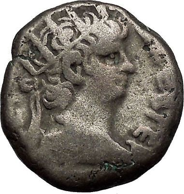 NERO 65AD Alexandria Silver Tetradrachm Authentic Ancient Roman Coin i52637