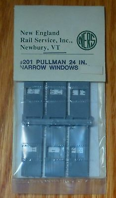 HO NEW ENGLAND RAIL SERVICE #402 PULLMAN WIDE WINDOW GLAZING KIT
