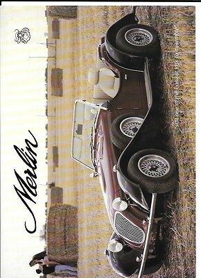 Merlin Two Seater And Plus Two Kit Car Sales 'brochure'/sheet 1991