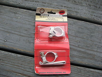 Knight Muzzleloading Quick Detachable Scope Rings - Silver #900770 FITS MK
