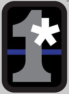 One Ass To Risk Asterisk Police Thin Blue Line Car Vehicle Window Decal Sticker