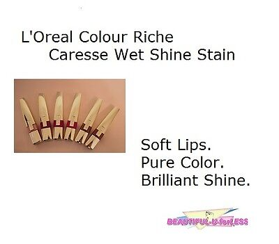BUY 2, GET 1 FREE! (add 3 to cart)  Loreal Colour Caresse Wet Shine Lip Stain