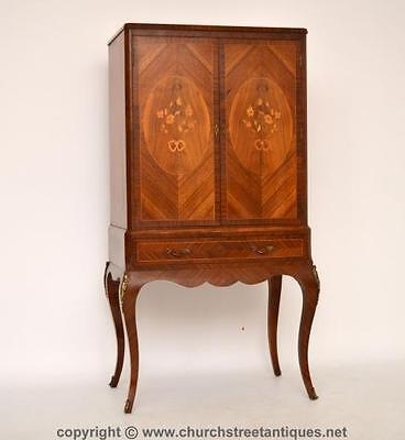 Antique French Style Kingwood & Marquetry Drinks Cabinet