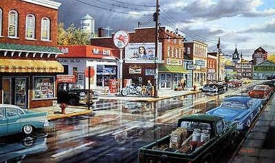 "Ken Zylla Reflections of Main Art Print Signed and Numbered 30"" X 18"""