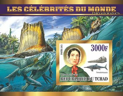 PALEONTOLOGISTS Dinosaurs  Mary Anning s/s Tchad 2015 #tchad2015-90 IMPERF