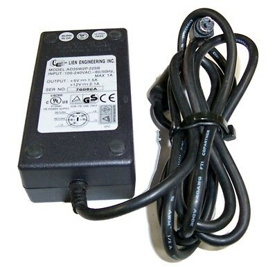 Lien AD35W2P-225B +5VDC@1.5A +12VDC@2.1A AC Adapter- 5-pin Mini-DIN Connector