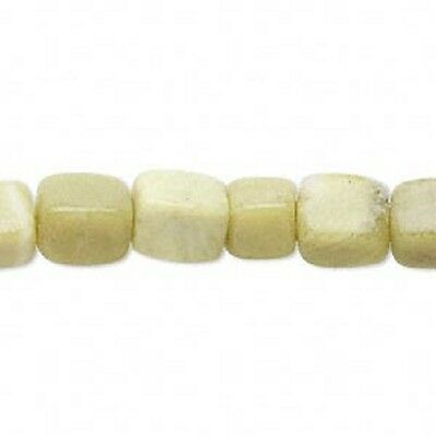 30 x Olive new Jade (natural) medium to large pebble - 8-12mm - LB1277