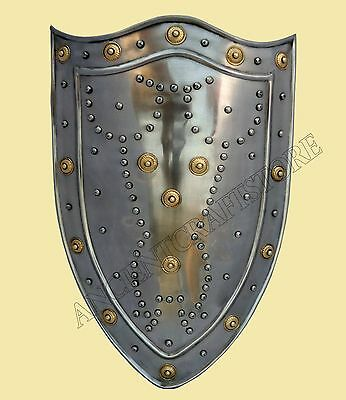 Medieval Steel Shield For re-enactment / larp/ role-play/ fancy-dress.