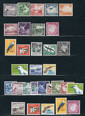 NAURU 1954-69 collection mostly complete VF MH