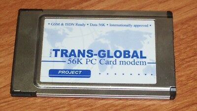 Trans-Global 56K PC Card Modem-No Dongle / Cable