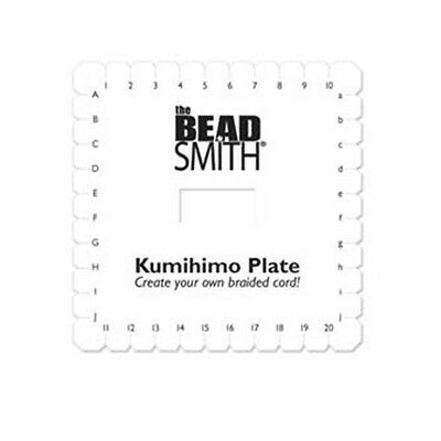 "2 each KUMIHIMO Braiding PLATE Dense Foam DISC 5-1/2"" Square Create  Flat Braids"