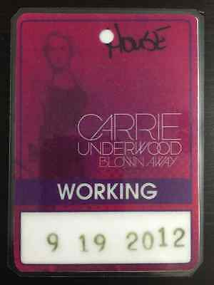 Carrie Underwood -2012/2013- Blown Away Tour Laminated Backstage Pass (Working)