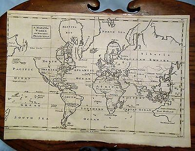 1750s Map of the World on Meractors Projection