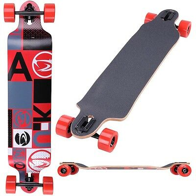"Pro Longboard Complete 41""x9"" Cruiser Skateboard 9 Layer Canadian Maple Downhill"