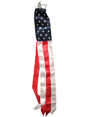 """60"""" American Flag Outdoor Windsock USA Patriotic July Fourth 4th Red White Blue"""