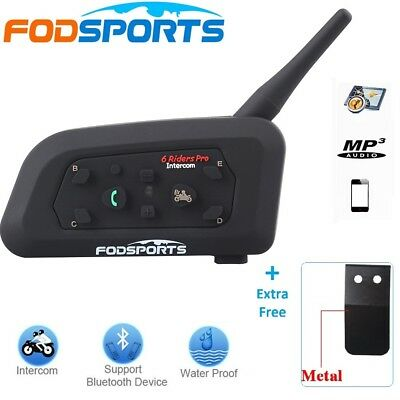 V6-1200M BT Bluetooth Motorcycle Helmet Interphone Wireless Handsfree Headset