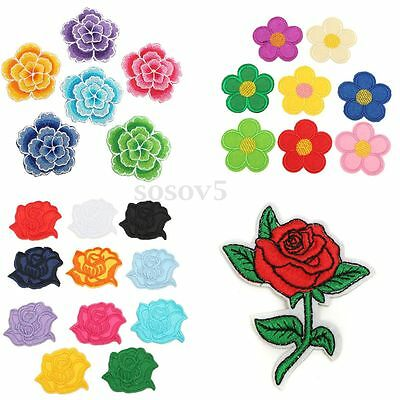 Rose Flor Ciruelo Abeja Parches Pegatinas Tela Costura Bordado Ropa Bolso Decor