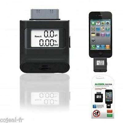 ETHYLOTEST ALCOOTEST ELECTRONIQUE IPHONE 3G/S & 4/S iPad iPod NOIR NEUF