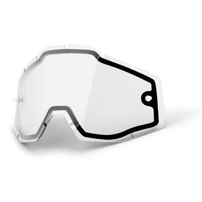 100% Racecraft/Accuri/Strata MX Enduro Goggle Lens - Clear Dual