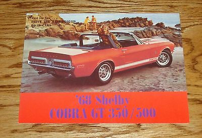 1968 Ford Mustang Shelby Cobra GT 350 / 500 Sales Brochure 68
