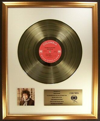 Bob Dylan Blonde On Blonde LP Gold Non RIAA Record Award Columbia Records
