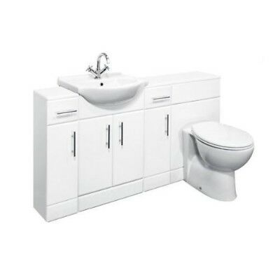 1650mm High Gloss White Vanity Basin Cabinet Furniture, BTW Toilet & Cupboards