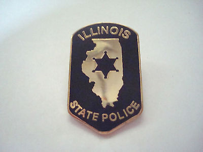 ILLINOIS STATE POLICE Police mini patch HAT PIN